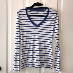 Old Navy Striped Long Sleeved Shirt
